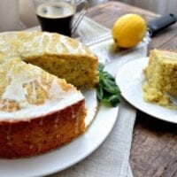 Lemon Basil Yogurt Cake, by thewoksoflife.com