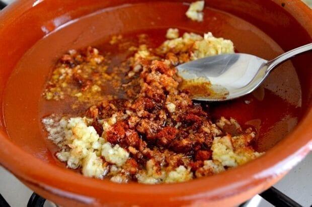 A Trio of Pinchos - Basque Country Favorites - garlicky shrimp Pincho, by thewoksoflife.com