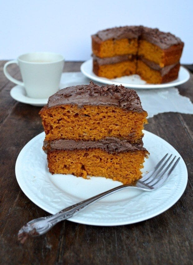 Pumpkin Cake with Mexican Chocolate Frosting