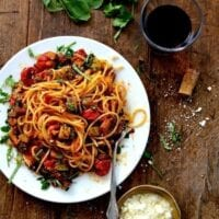 Roasted Ratatouille Pasta Recipe, by thewoksoflife.com