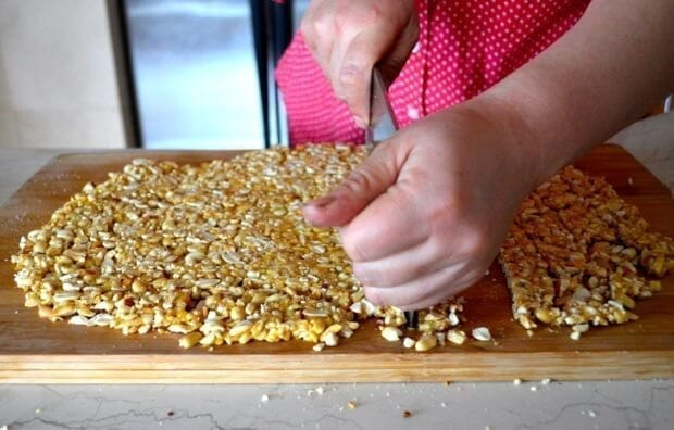 Homemade Chinese Sesame Peanut Brittle, by thewoksoflife.com