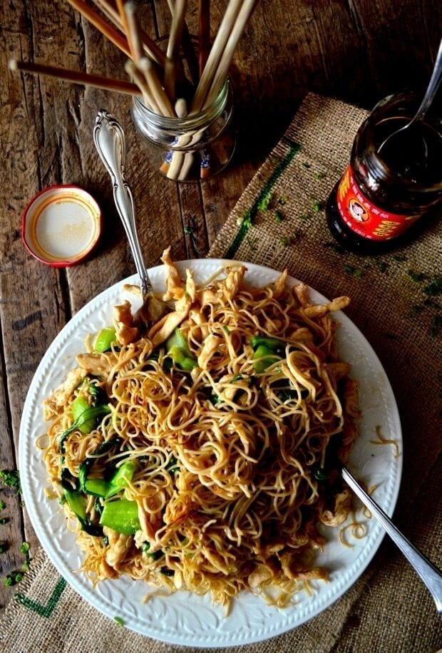 chicken chow mein wok recipe
