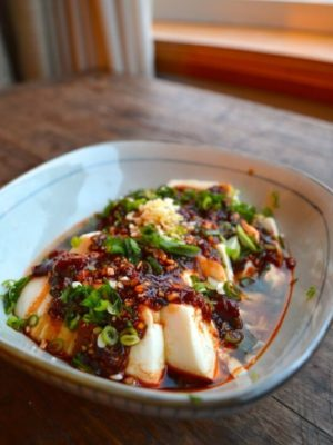 Spicy Cold Tofu (Liangban Dofu) - A 5 Minute Recipe, by thewoksoflife.com