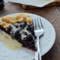 Mulberry Galette w/ Vanilla Sauce