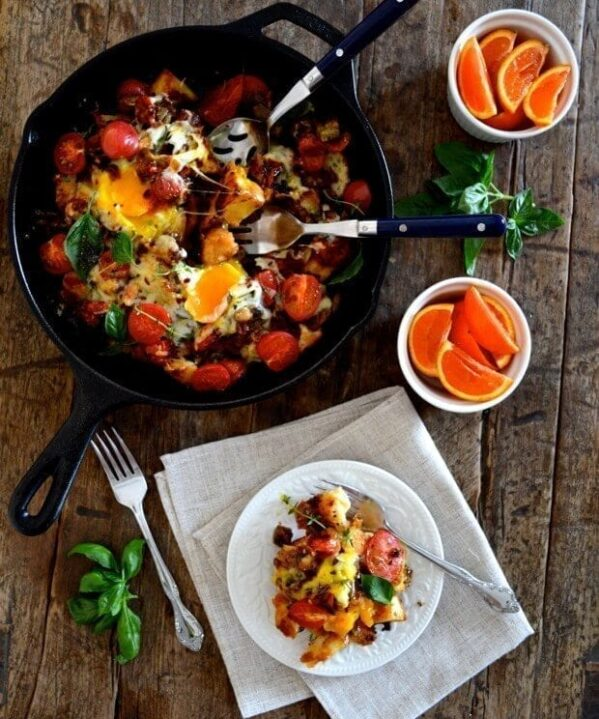 Ratatouille Brunch Egg Bake for Mother's Day, by thewoksoflife.com