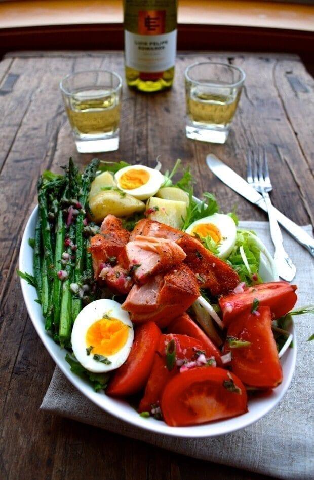Warm Salmon Salad Nicoise The Woks Of Life