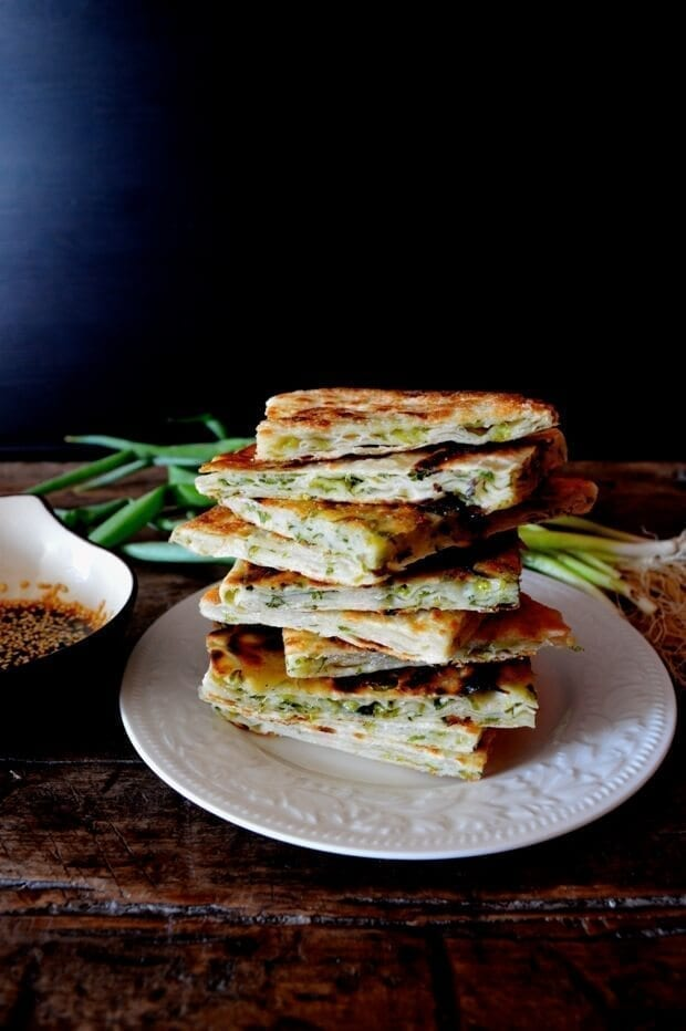 9-Layer Chinese Scallion Pancakes, by thewoksoflife.com