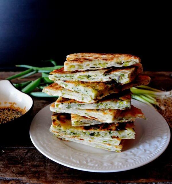 9-Layer Chinese Scallion Pancakes, by thewoksoflife.com