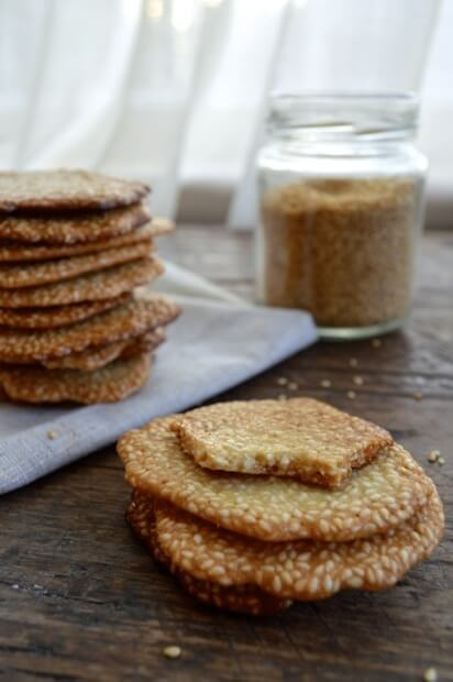 Homemade Sweet Sesame Crisps, by thewoksoflife.com