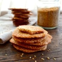 Homemade Sweet Sesame Crisps