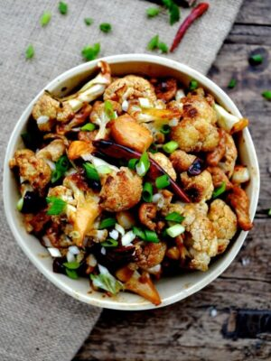 Easy Roasted Cauliflower Stir-Fry, by thewoksoflife.com
