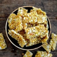 Homemade Chinese Sesame Peanut Brittle
