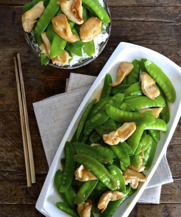 Chicken with snow peas