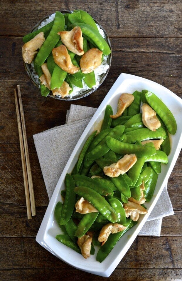 Chicken Snow Peas Stir-fry by thewoksoflife.com