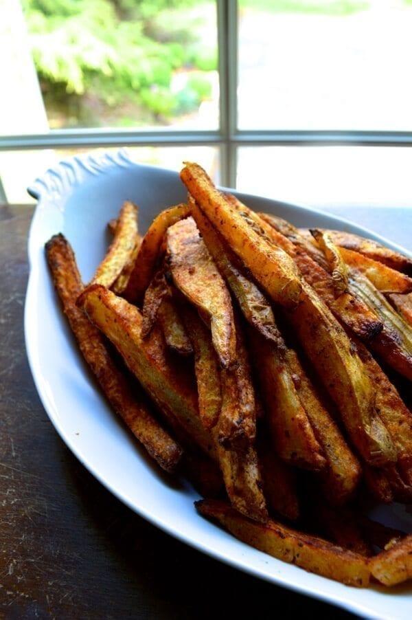 Baked Seasoned Fries by thewoksoflife.com