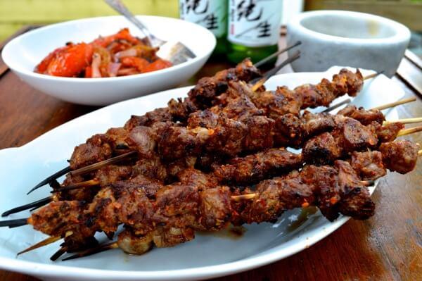 Spicy Beijing Lamb Skewers (yangrou chuan) by thewoksoflife.com