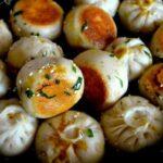 Carrot ginger pan-fried buns