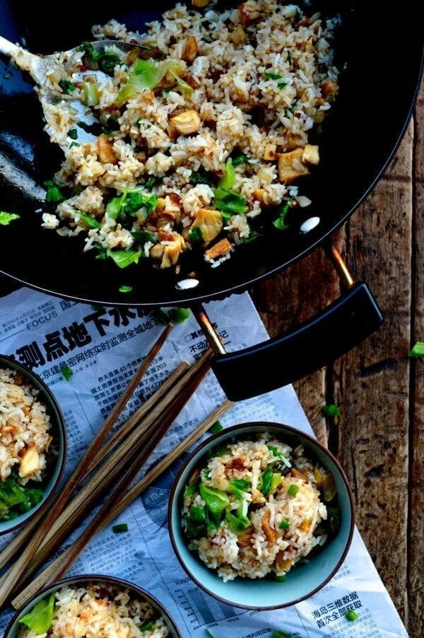 Cantonese Chicken and Salted Fish Fried Rice by thewoksoflife.com