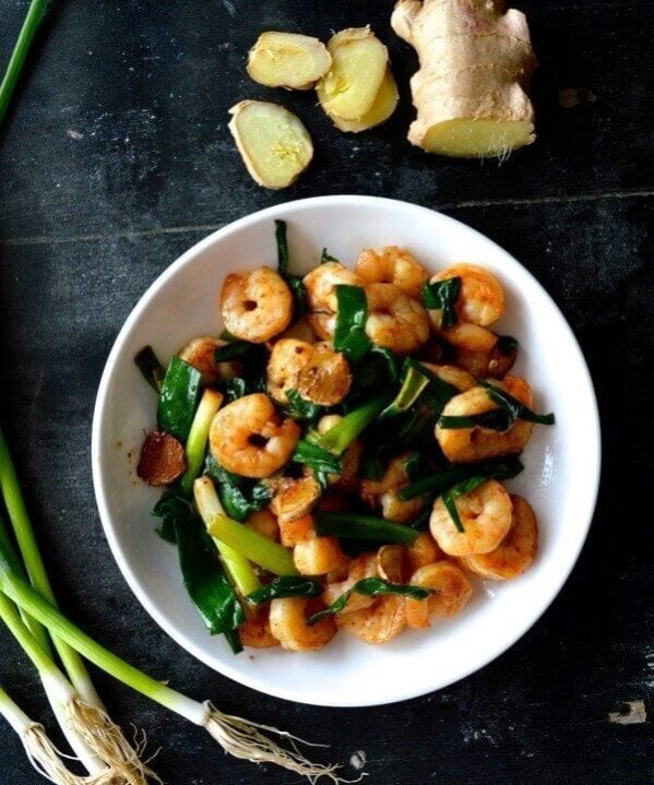 Scallion Ginger Shrimp Recipe (Redux!), by thewoksoflife.com