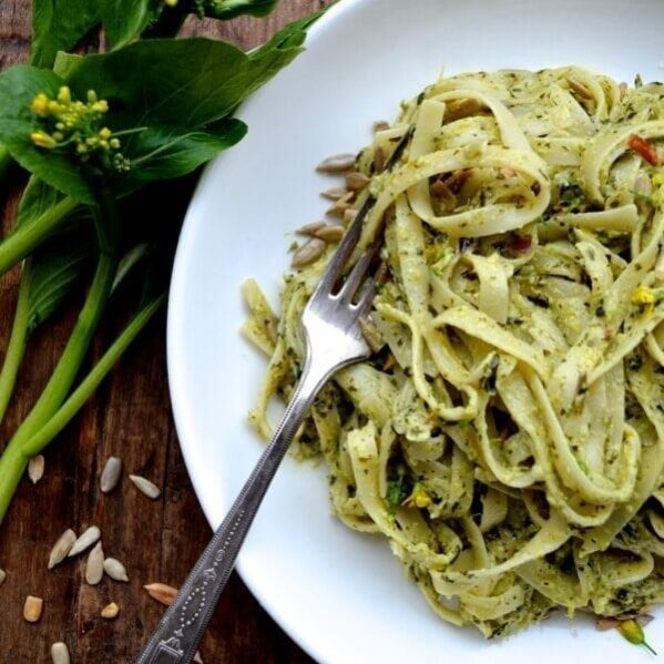 Choy Sum Pesto Pasta