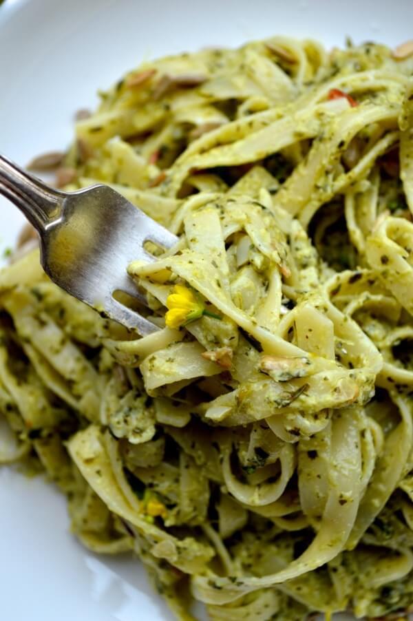 choy-pesto-pasta