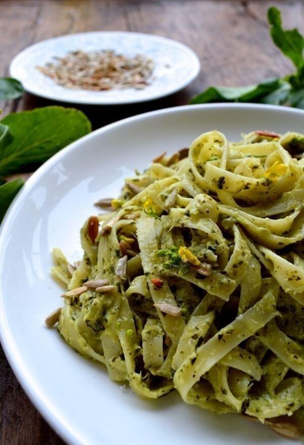 choy-sum-pasta