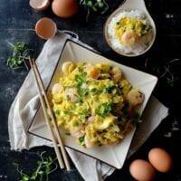 Stir-fried Shrimp and Eggs (虾仁炒蛋)