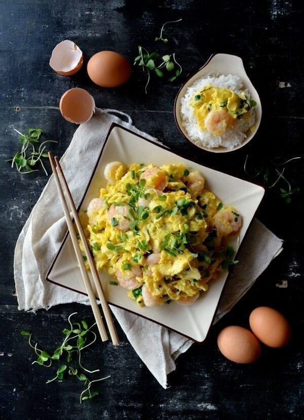 Egg Shrimp Stir-fry