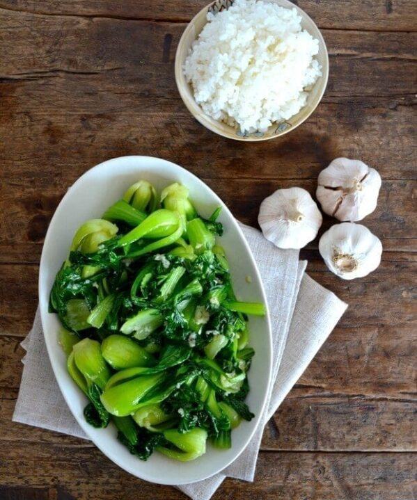 Garlic Baby Bok Choy Stir Fry by thewoksoflife.com