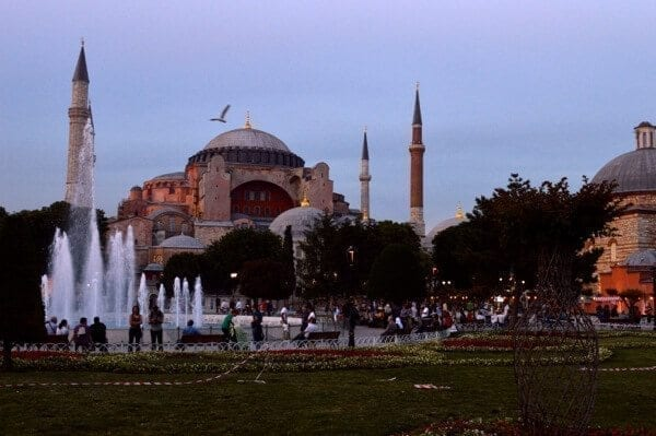 Hagia Sophia at Dusk - How to See Istanbul In One Day by thewoksoflife.com