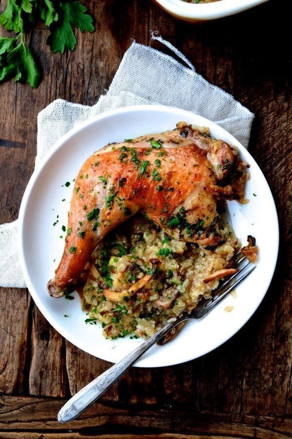 Roast Chicken On Wild Mushroom Sticky Rice Quot Risotto Quot The