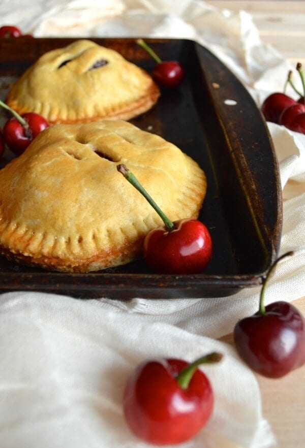 Sweet Cherry Hand Pies by thewoksoflife.com