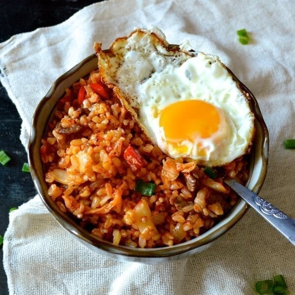 Beef and Kimchi Fried Rice - Chinese Korean Fusion - The ...