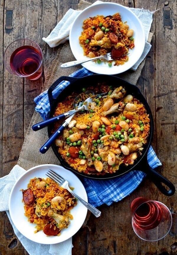 Easy chicken chorizo paella recipe the woks of life easy chicken chorizo paella recipe forumfinder Choice Image