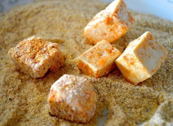 Loaded Crispy Tofu Tacos by thewoksoflife.com
