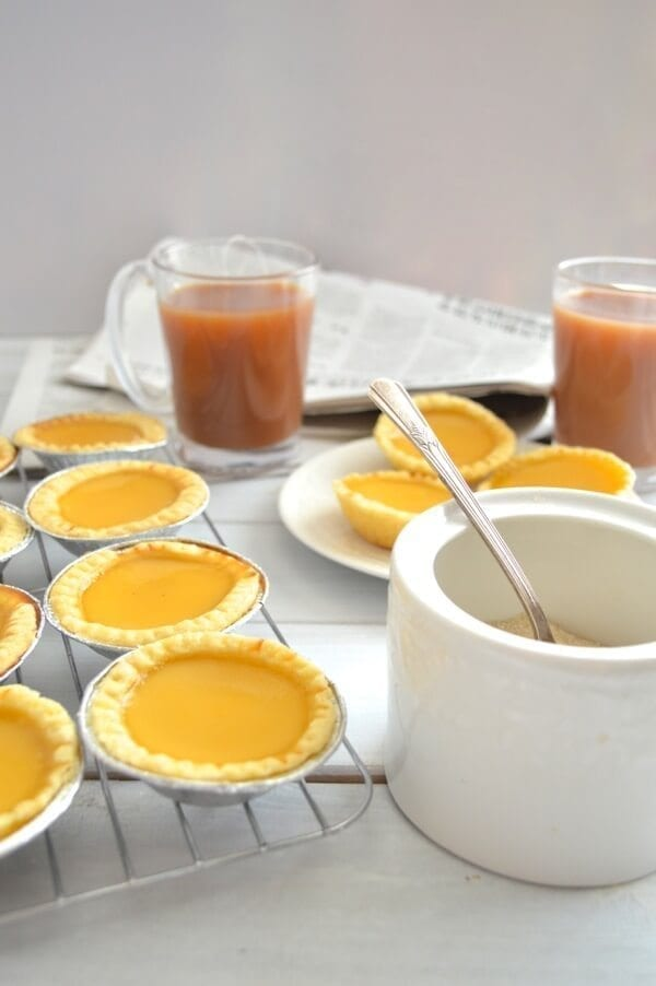 Hong Kong Egg Tarts by thewoksoflife.com
