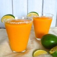 Frozen White Peach Mango Margaritas