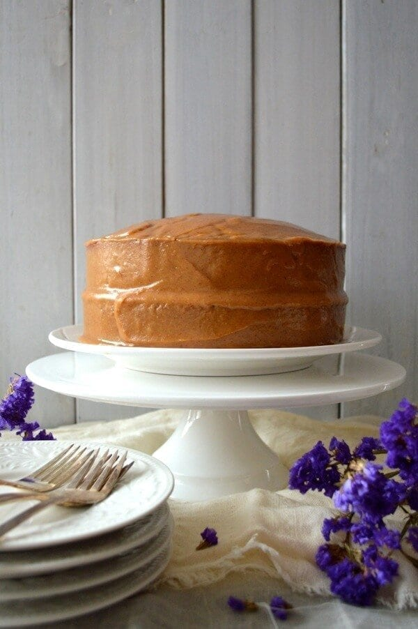 Classic Peanut Butter Cake by thewoksoflife.com