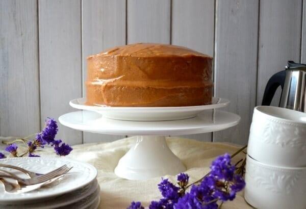 Classic Peanut Butter Cake by thewoksoflife.com