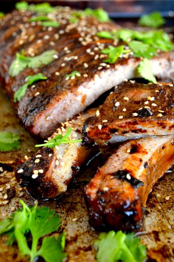 Roasted Jasmine Tea Rub Ribs by thewoksoflife.com