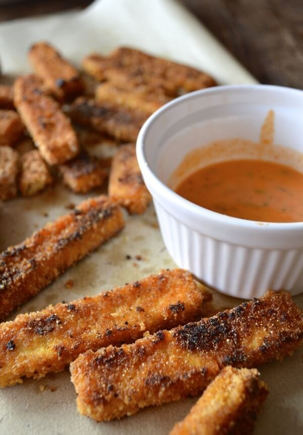 recipe - a duo of dippables with honey sriracha mayo