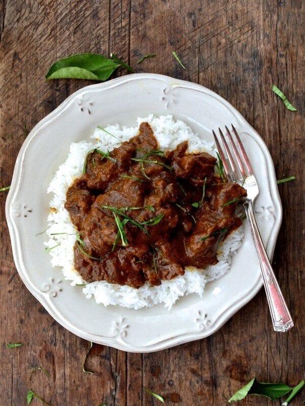 Beef Rendang, A Malaysian Classic, by thewoksoflife.com