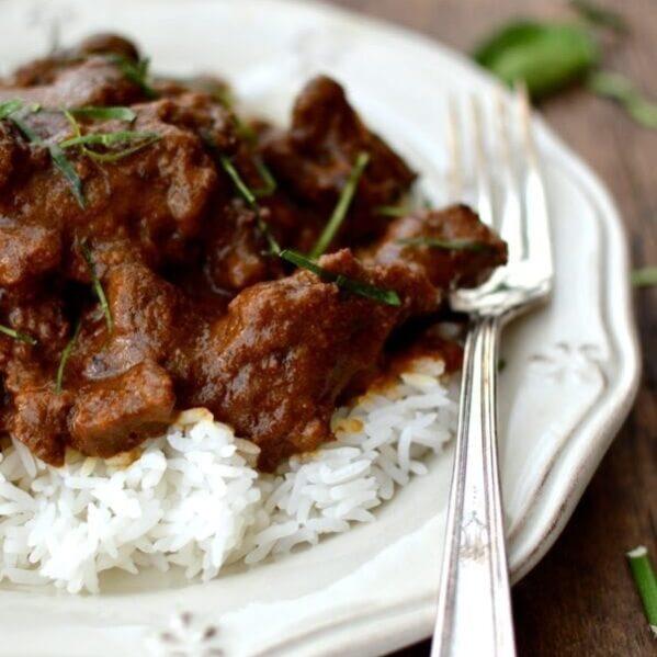 Beef Rendang over rice