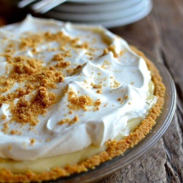 Bourbon Banana Cream Pie