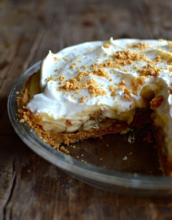 Bourbon Banana Cream Pie, by thewoksoflife.com