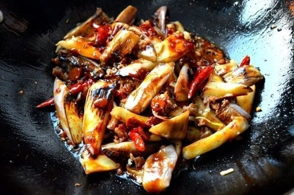 Chinese Eggplant with Garlic Sauce by thewoksoflife.com