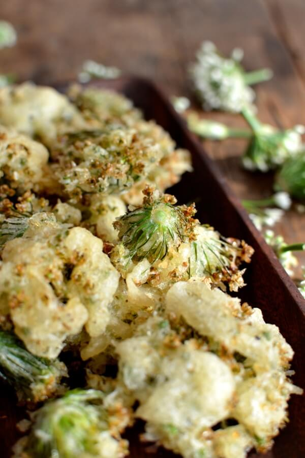 Chive Flower Tempura, by thewoksoflife.com