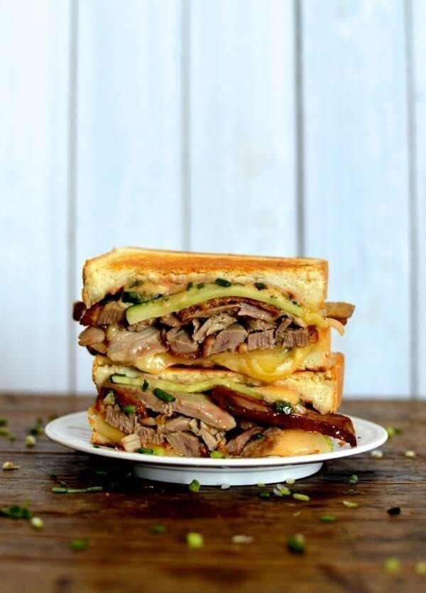 Peking Duck Grilled Cheese, by thewoksoflife.com