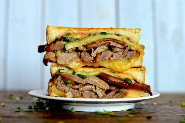 Peking Duck Grilled Cheese