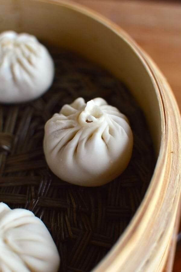 Steamed Shanghai Soup Dumplings (Xiaolongbao), by thewoksoflife.com